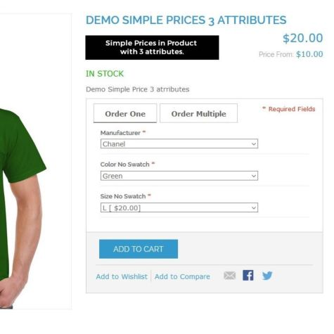 Configurable Products use Simple Price & Details