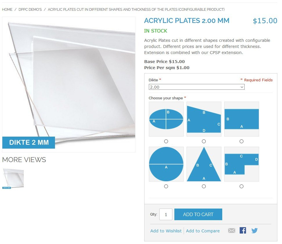 Best4Mage Dynamic Product Price Different shapes Demo